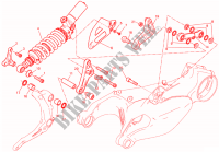 SUSPENSION TRASERA para Ducati 1299 Panigale ABS 2017